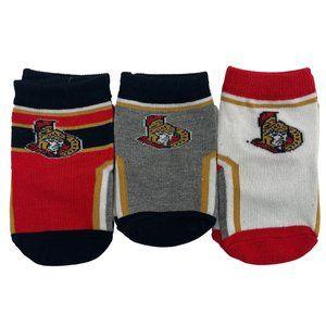 NHL | Toddler Ottawa Senators Socks | 3 Pack